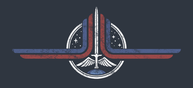 A modern version of the Star League logo from 'The Last Starfighter'