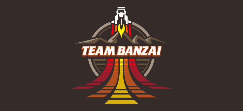My own retro take on the Team Banzai logo from the 80's film Buckaroo Banzai