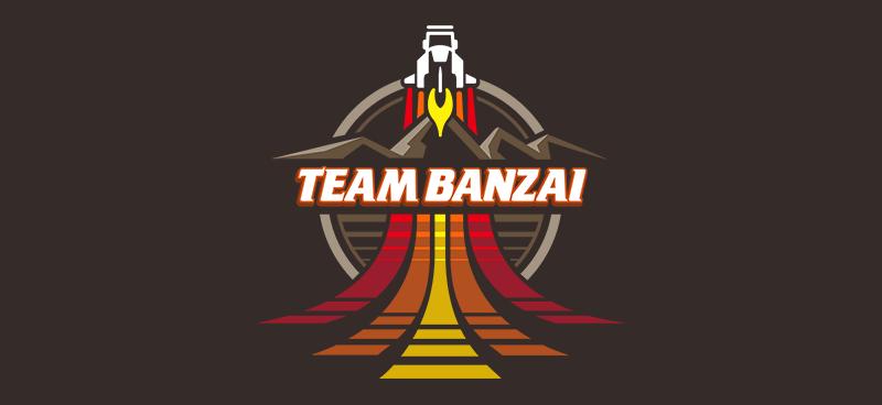 My own retro take on the Team Banzai logo from the 80's film Buckaroo Banzai