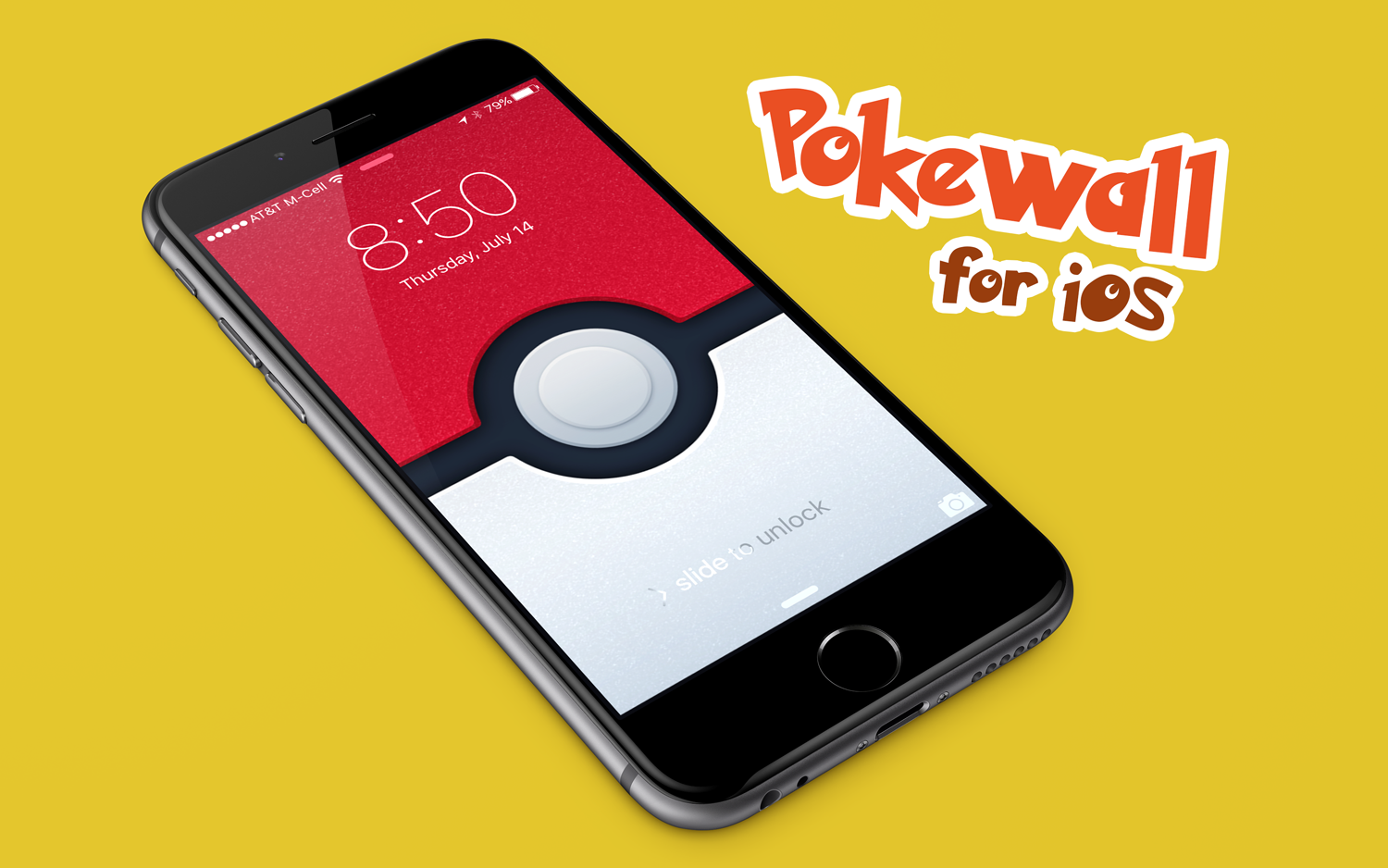 Pokewall Wallpaper on an iPhone 6