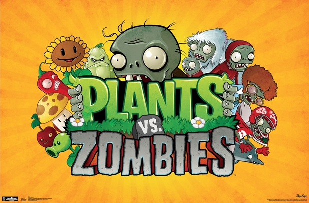 Plants vs Zombies title screen