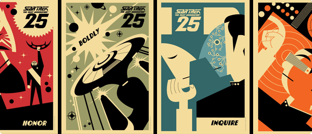 Star Trek TNG 25th Anniversary Posters